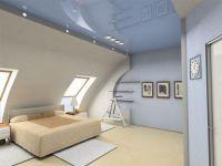 натяжные потолки в мансарду